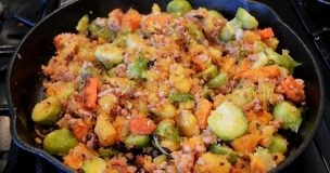 Sweet Potato & Sausage hash