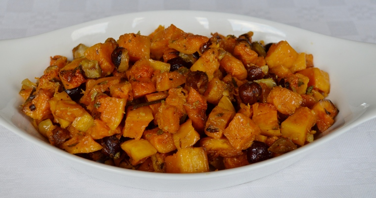 Roasted Butternut Squash and Hazelnuts