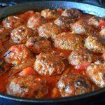 Gluten-free Apple & Sage Meatballs in tomato sauce