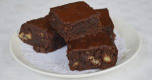 Rum and Raisin Chocolate Brownies