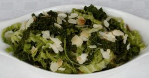 Savoy Cabbage with Almonds & Honey