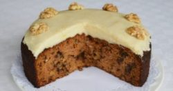 Gluten-free Carrot Cake with Dairy-free Lemon Frosting