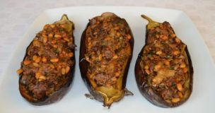 Lebanese Lamb-stuffed Aubergines