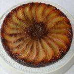 Gluten-free Caramelised Upside-Down Ginger & Pear Cake