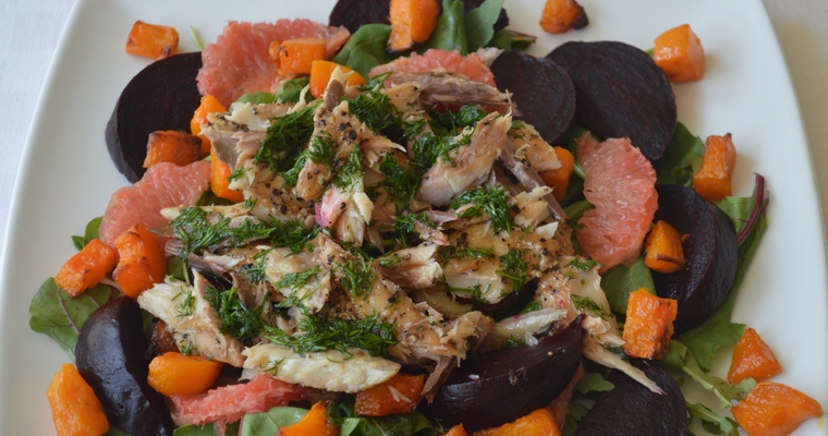 Smoked Mackerel, Beetroot & Grapefruit Salad