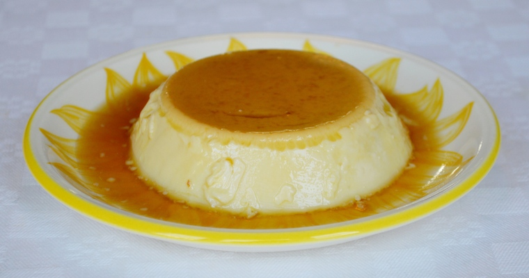 Dairy-free Crème Caramel (made with almond milk)