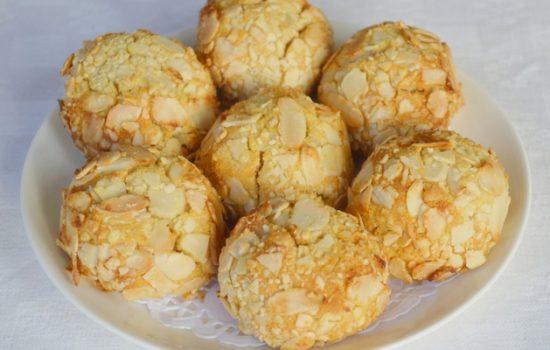 Gluten-free Cherry Almond Macaroons (made with honey)