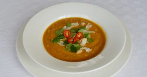 Sweet Potato, Chilli & Coconut Soup