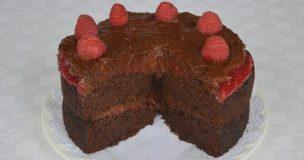 Greg's Gluten-free Chocolate Raspberry Layer Cake with Dairy-free Chocolate Fudge Frosting