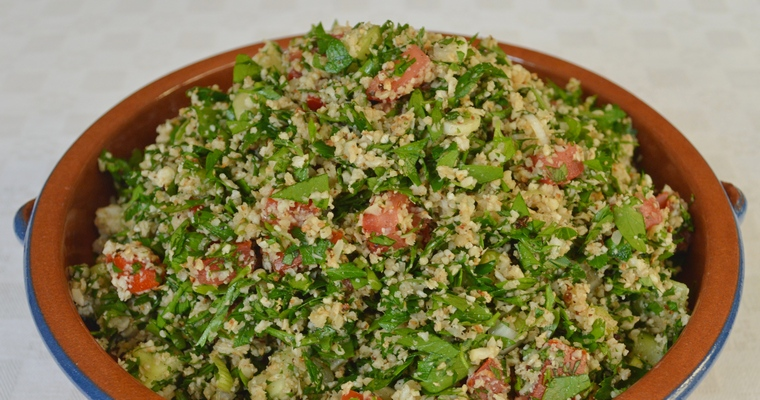 Grain-free Tabbouleh Salad (made with cauliflower)