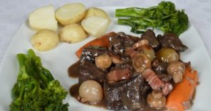 Beef Bourguignon (French red wine stew)