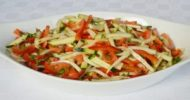 Courgette and Red Pepper Salad