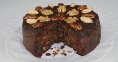 Christmas Cake Sliced
