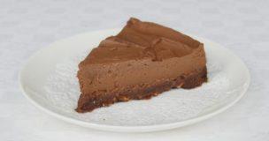 Chestnut Truffle Cheesecake Slice